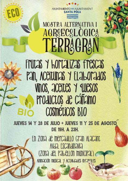 Cartel mercadillo Gran Alacant