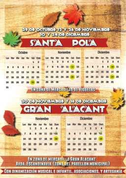 Proximos mercadillos Santa Pola / Gran Alacant